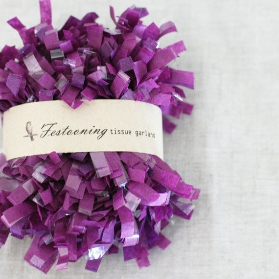 Bulk 8 yard roll of Grape Fringe Trim