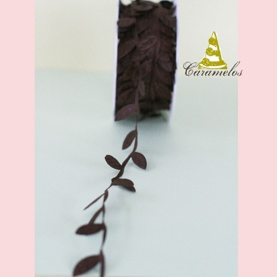 Chocolate Leaf Ribbon\/Garland