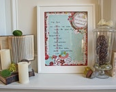 RESERVED for Michelle-16x20 Biblical Children's Valentine Poster Cutom Order