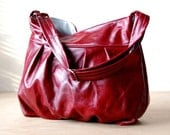 Baby Ruche Bag in TWO-TONED RED Leather