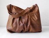 Baby Ruche Bag in Aztec II Brown Leather - Made to Order