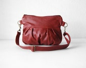 LAST ONE - Clutch in Wine Leather - Ready to Ship