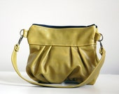 SALE - Clutch in Avocado Leather - Wristlet Edition - SECOND - Ready to Ship