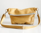 Foldover Clutch in Mustard Yellow - LAST ONE - Ready to Ship