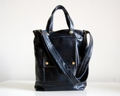 Packet in Dark Navy Leather - LAST ONE - Ready to Ship