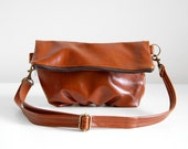 Foldover Clutch in Arabian Spice Leather - Ready to Ship
