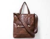 Packet in Old West Brown Leather -  LAST ONE - Ready to Ship