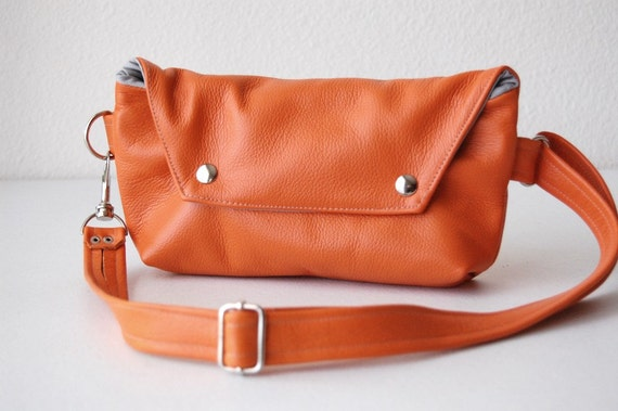 Traveler in Pumpkin Leather - Made to Order