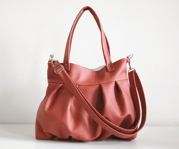 Mini Ruche Bag in Emberglow Leather - Made to Order