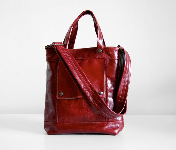 Packet in Ruby Wine Leather  -  Made to Order