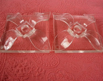 Pair of Lucite Candle Holders