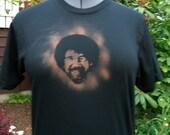 Bleach Stenciled Bob Ross Shirt (Women's M)
