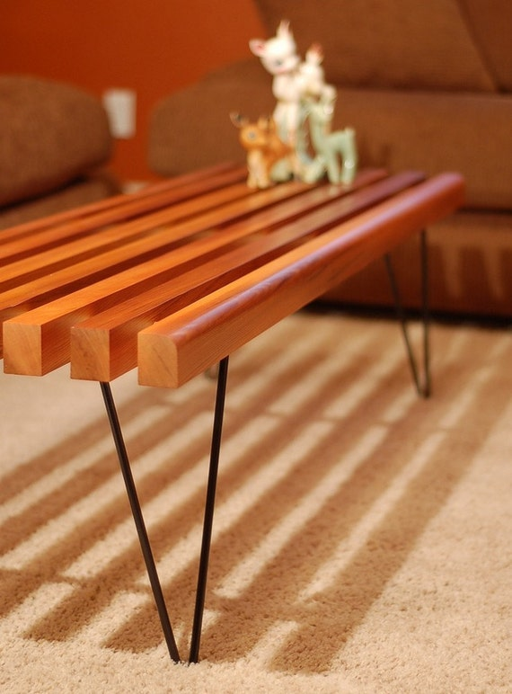 Slat Bench Coffee Table Price Reduced By Thelittleprints On Etsy