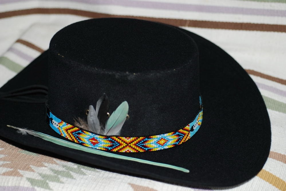 Hat Band Two Feathers Native American