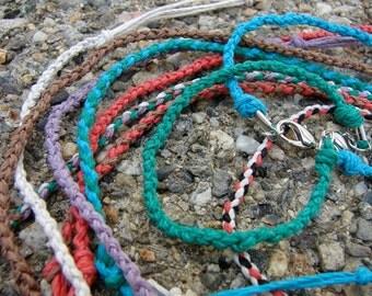 Boho Hemp Rope Bracelet in Custom Colors