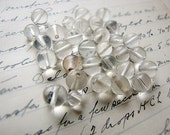 bulk lot of vintage clear round glass beads