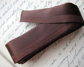 vintage antique brown satin ribbon trim- and tons of it