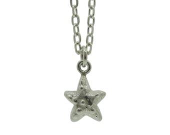 SALE!! Starfish necklace, Sterling Silver, Handmade in brighton