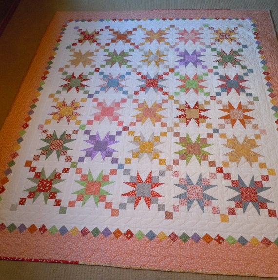 RESERVED  Full/Queen Quilt in Fun 30's Prints