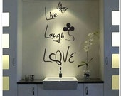 Live, Laugh, Love - Word Wall Decal