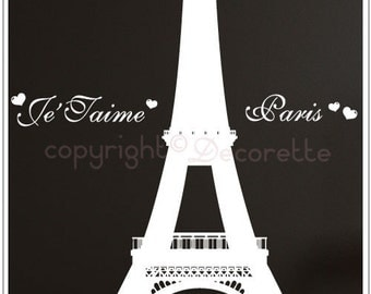 Paris Eiffel Tower - Large Wall Decal