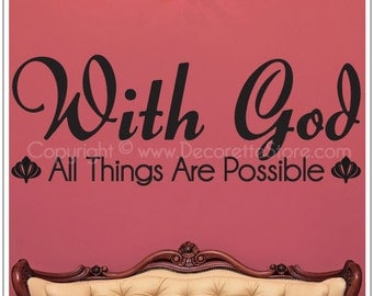 With God (Regular Size) - Text Wall Decal