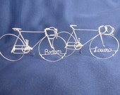 LOVE CYCLES: Personalized Racing Bikes Wedding Cake topper