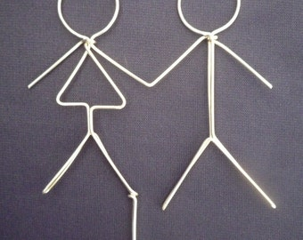 FOREVER FRIENDS: Stick Figures Wedding Cake Topper