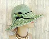Jadeite // Elegant Sisal Summer sun hat