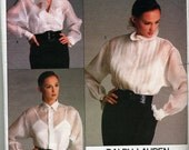 Vogue Designer- Ralph Lauren Sewing Pattern. 1987 Shirt, Camisole