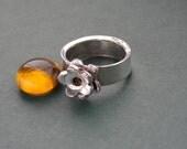 Sterling Silver Daisy Flower Ring for Spring