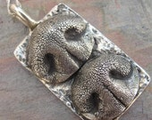 Dog Nose Necklace Personalized in Sterling Silver