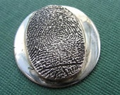 Fingerprint Golf Marker Thumbprint  Jewelry in Sterling Silver Personalized