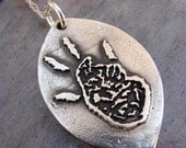Your Child's Artwork  Drawing Custom Silver Jewelry Necklace