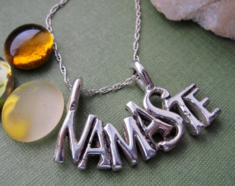 Namaste Necklace Jewelry  Ohm Silver Sterling