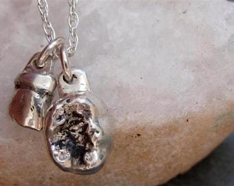Baby Teeth Necklace in Sterling Silver Set of Teeth