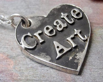 Create Art Necklace in Sterling Silver