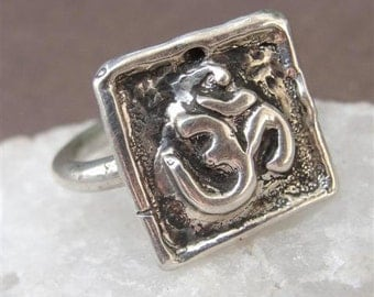 Ohm Ring Jewelry Om in Sterling Silver