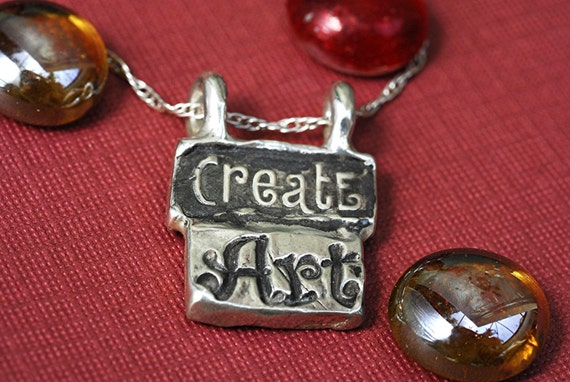 Create Art Necklace in Sterling Silver Personalized