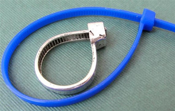 Zip Tie Ring Silver Jewelry Sterling Silver Band