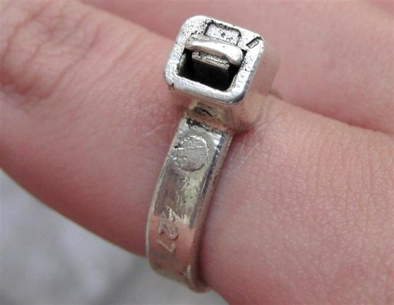 Zip Tie Ring Jewelry Sterling Silver Cable Tie Band