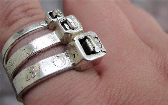 Ziptie Ring Jewelry Sterling Silver Zip Tie Ring