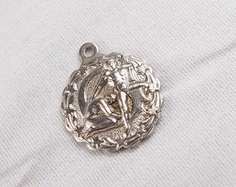 Vintage 60s B David Gymnastics Sterling Silver Charm Pendant Jewelry