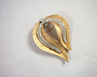 Vintage 60s JJ Signed Rhinestone Brooch Jewelry