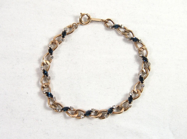 vintage 50s 60s krementz rhinestone bracelet jewelry