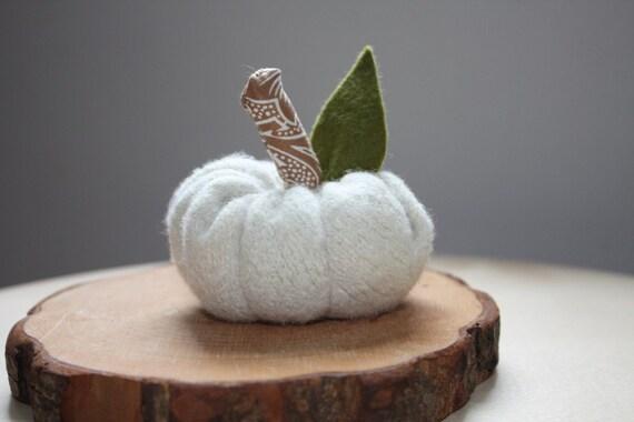 White woolen pumpkin- Autumn Series no.8