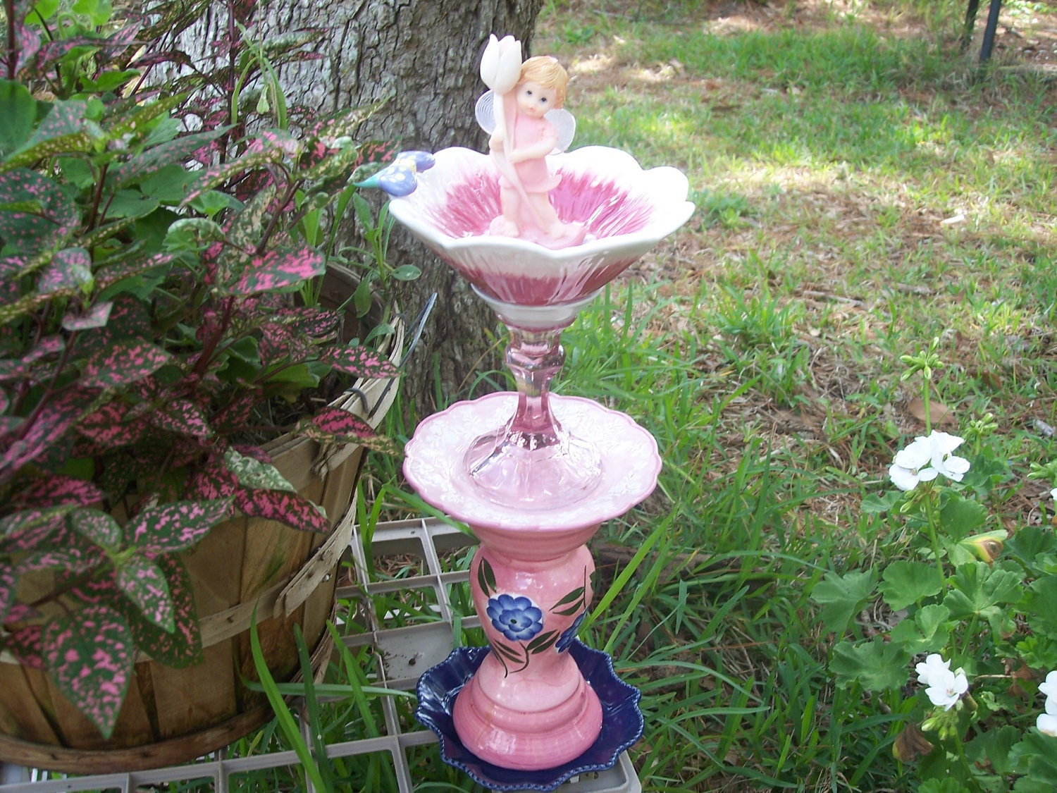 Recycled Garden Yard Art Pixie Love by YourRepurposedHome ...