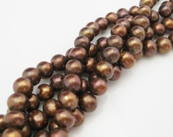 Freshwater pearls - Gemstone Pearls-Jewelry Making Beads-Brown color 5-6mm - 301001