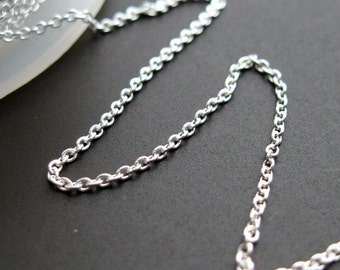 925 Sterling Silver Chain,Beading Chain,Bulk Chain-Tiny Plain Cable,Fine Chain 1mm (Up to 30% off ) Jewelry Supplies Wholesale-SKU:101009