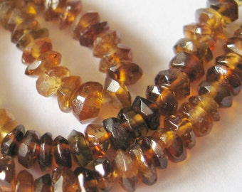 Gemstone Beads-Petro Tourmaline -Semi Precious Stone , Faceted Rondell Beads - full strand -(3 mm) 14.5 inches - Gem 40